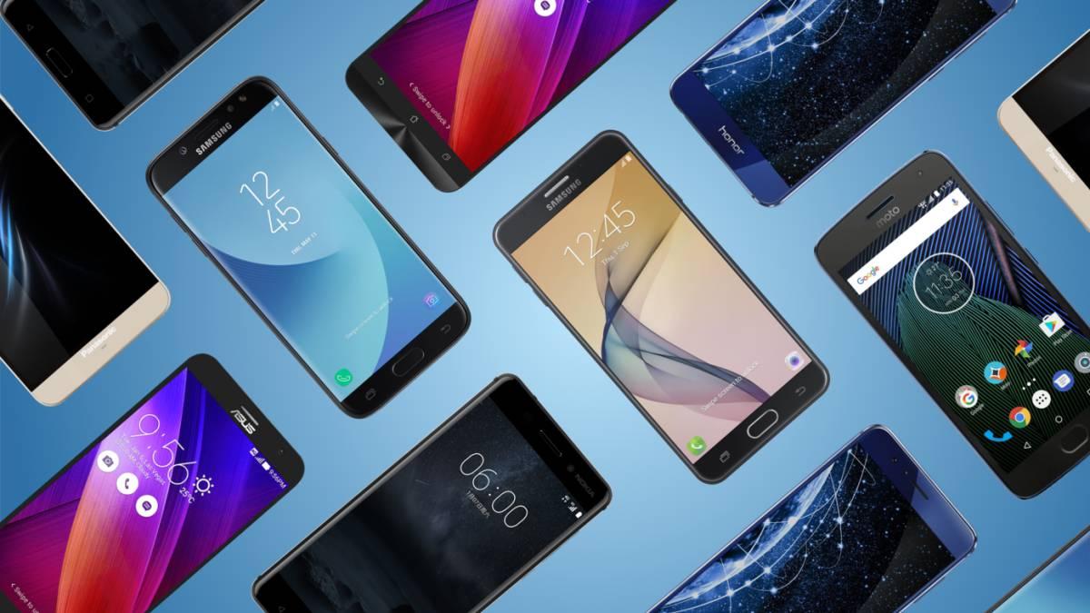 Cuadrícula de móviles por menos de 100 euros