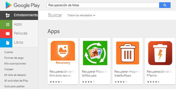 recuperar fotos borradas en Android